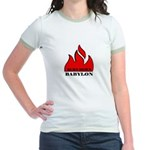 BURN BABYLON Jr. Ringer T-Shirt