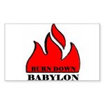 BURN BABYLON Rectangle Sticker