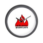 BURN BABYLON Wall Clock