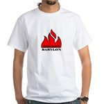 BURN BABYLON White T-Shirt