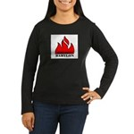 BURN BABYLON Women's Long Sleeve Dark T-Shirt