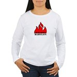 BURN BABYLON Women's Long Sleeve T-Shirt