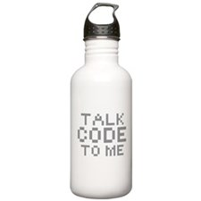 TALK CODE TO ME Sports Water Bottle