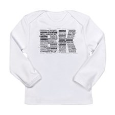 Brooklyn BK Text Art Long Sleeve T-Shirt