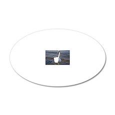 Beautiful Swan 20x12 Oval Wall Decal