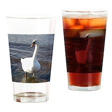 Beautiful Swan Drinking Glass