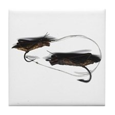 Vintage Grasshopper Lures Tile Coaster