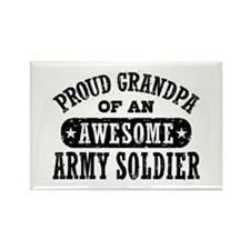 Proud Army Grandpa Rectangle Magnet
