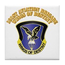 DUI - 101st Aviation Brigade with Text Tile Coaste