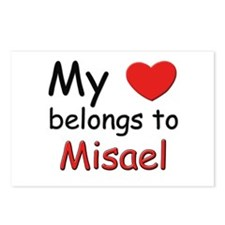 My heart belongs to misael Postcards (Package of 8