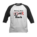 BRING DAT 1 LOVE BACK Kids Baseball Jersey