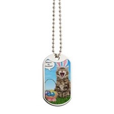 easterkitten_greet Dog Tags