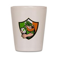 Irish leprechaun rugby player celtic sh Shot Glass