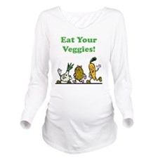 Eat Your Veggies Gre Long Sleeve Maternity T-Shirt