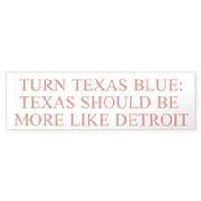 Turn Texas Blue 3 Bumper Bumper Sticker