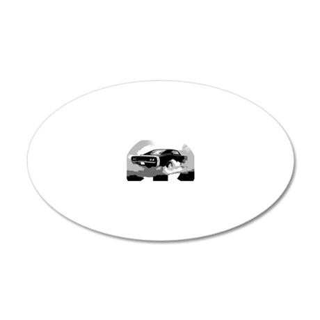 charger white shirt2 20x12 Oval Wall Decal