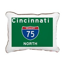 Cincinnati 75 Rec Mag Rectangular Canvas Pillow