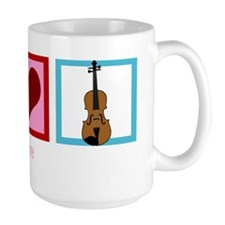 peaceloveviolinwh Mug