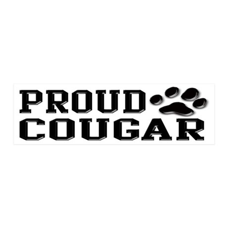 Proud Cougar 20x6 Wall Decal