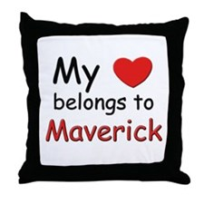 My heart belongs to maverick Throw Pillow