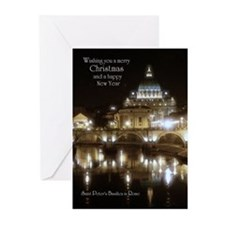 Rome Vatican Christmas Cards (10-pk) Greeting Card