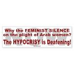Bumper Sticker:Feminist Silence