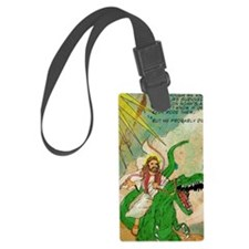 jesus raptor Luggage Tag
