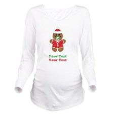 Personalize Gingerbread Santa Baby Long Sleeve Mat