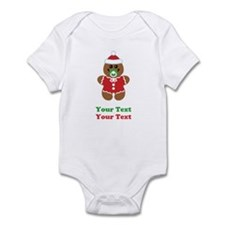 Personalize Gingerbread Santa Baby Infant Bodysuit