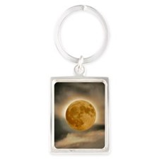 MOON shirt Portrait Keychain