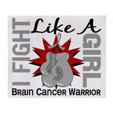 Fight Like A Girl Brain Cancer 8.2 Throw Blanket