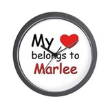 My heart belongs to marlee Wall Clock