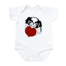 Japanese Chin Heart Infant Bodysuit