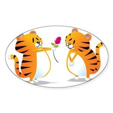 two tigers rose Decal