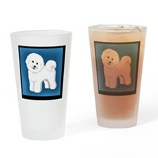 Smiling Bichon Drinking Glass