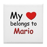 My heart belongs to mario Tile Coaster