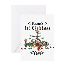 Personalize 1st Christmas Greeting Card