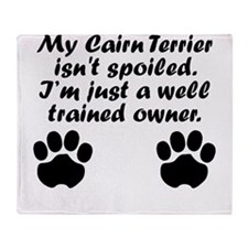 Well Trained Cairn Terrier Owner Throw Blanket