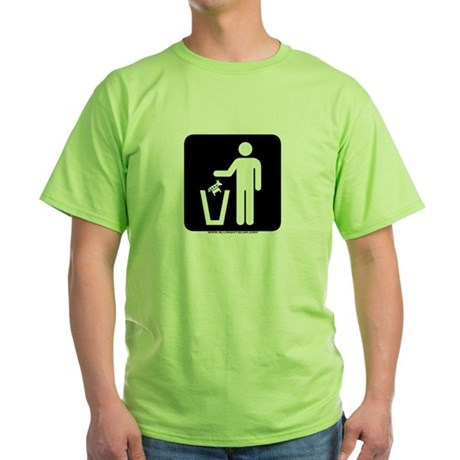 Trash Disposal Green T-Shirt