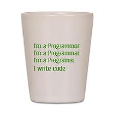I Write Code Shot Glass