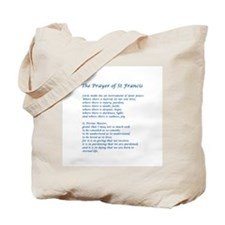 St Francis Peace Prayer Tote Bag