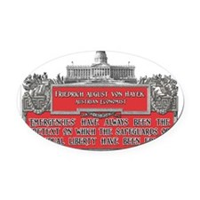 Von Hayek lights2 Oval Car Magnet