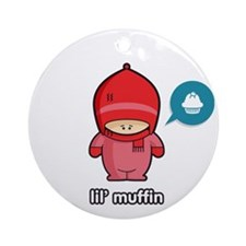 Muffin PNK Round Ornament