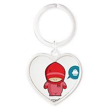 Muffin PNK Heart Keychain