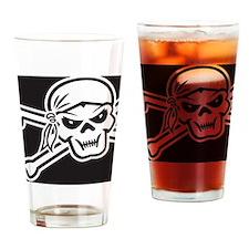 SkullCrossBones_Mouse Drinking Glass