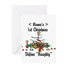 Personalized First Christmas Greeting Card