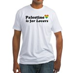 Palestine is for Gay Lovers Fitted T-Shirt