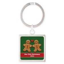Personalize Gingerbread Couple Keychains