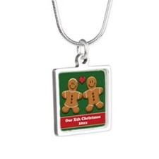 Personalize Gingerbread Couple Necklaces