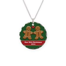 Personalize Gingerbread Couple Necklace